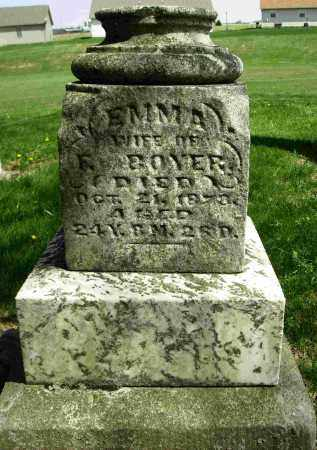 BOYER, EMMA - Shelby County, Ohio | EMMA BOYER - Ohio Gravestone Photos