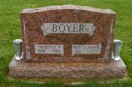 BOYER, MARY A. - Shelby County, Ohio | MARY A. BOYER - Ohio Gravestone Photos