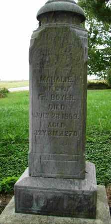 BOYER, MAHALIE - Shelby County, Ohio | MAHALIE BOYER - Ohio Gravestone Photos