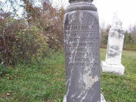 BRENNER, MARTHA - Shelby County, Ohio | MARTHA BRENNER - Ohio Gravestone Photos