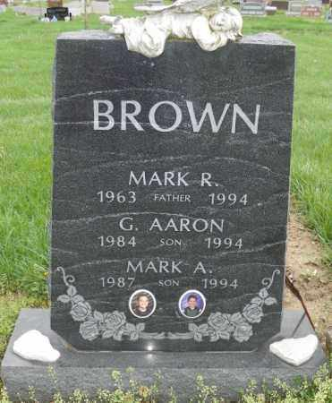 BROWN, G. AARON - Shelby County, Ohio | G. AARON BROWN - Ohio Gravestone Photos