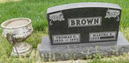 BROWN, MARTHA E. - Shelby County, Ohio | MARTHA E. BROWN - Ohio Gravestone Photos