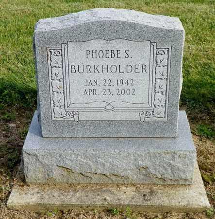 BURKHOLDER, PHOEBE S. - Shelby County, Ohio | PHOEBE S. BURKHOLDER - Ohio Gravestone Photos
