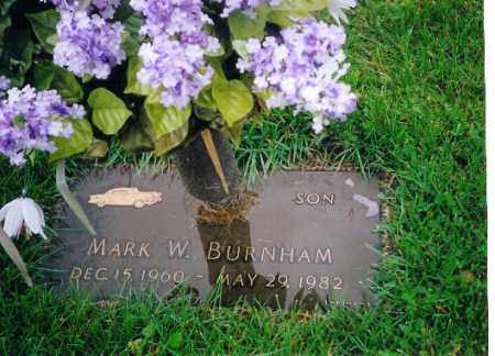 BURNHAM, MARK W - Shelby County, Ohio | MARK W BURNHAM - Ohio Gravestone Photos
