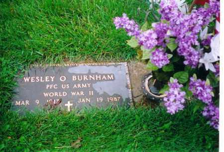 BURNHAM, WESLEY O - Shelby County, Ohio | WESLEY O BURNHAM - Ohio Gravestone Photos