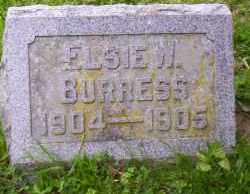 BURRESS, ELSIE W. - Shelby County, Ohio | ELSIE W. BURRESS - Ohio Gravestone Photos