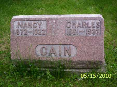 CAIN, NANCY - Shelby County, Ohio | NANCY CAIN - Ohio Gravestone Photos