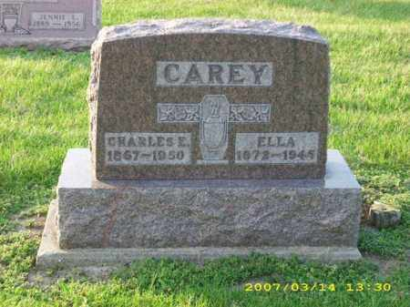 CAREY, CHARLES E - Shelby County, Ohio | CHARLES E CAREY - Ohio Gravestone Photos