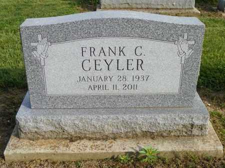 CEYLER, FRANK C. - Shelby County, Ohio | FRANK C. CEYLER - Ohio Gravestone Photos