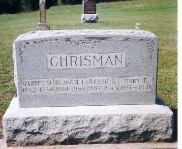 CHRISMAN, MARY E. - Shelby County, Ohio | MARY E. CHRISMAN - Ohio Gravestone Photos
