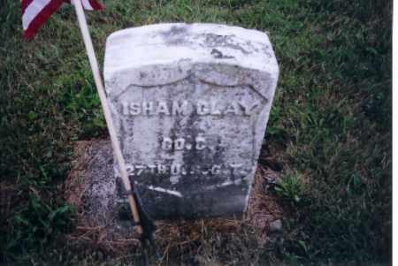 CLAY, ISHAM - Shelby County, Ohio | ISHAM CLAY - Ohio Gravestone Photos