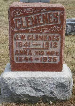 CLEMENES, J. W. - Shelby County, Ohio | J. W. CLEMENES - Ohio Gravestone Photos