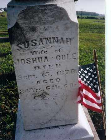 COLE, SUSANNAH - Shelby County, Ohio | SUSANNAH COLE - Ohio Gravestone Photos