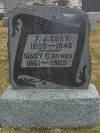 CORY, F. J. - Shelby County, Ohio | F. J. CORY - Ohio Gravestone Photos