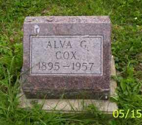 COX, ALVA G. - Shelby County, Ohio | ALVA G. COX - Ohio Gravestone Photos