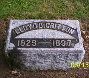 CRITTON, LLOYD D. - Shelby County, Ohio | LLOYD D. CRITTON - Ohio Gravestone Photos