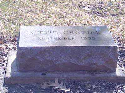 CROZIER, KITTIE - Shelby County, Ohio | KITTIE CROZIER - Ohio Gravestone Photos