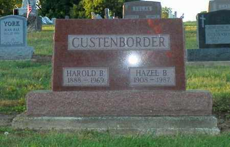 CUSTENBORDER, HAROLD B. - Shelby County, Ohio | HAROLD B. CUSTENBORDER - Ohio Gravestone Photos