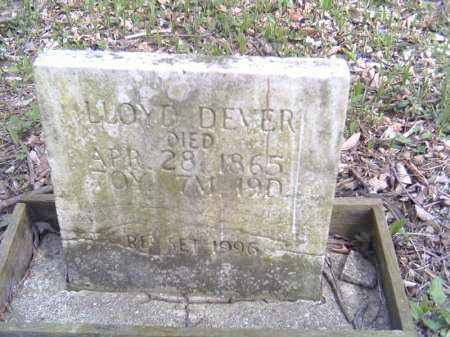 DEVER, LLOYD - Shelby County, Ohio | LLOYD DEVER - Ohio Gravestone Photos