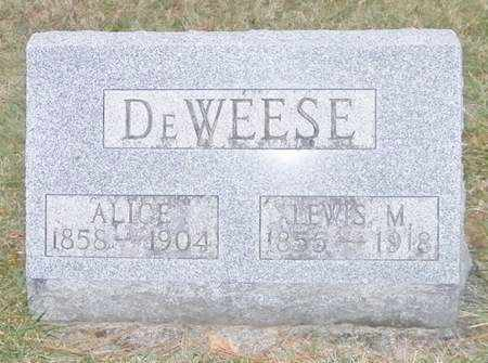 DEWEESE, ALICE - Shelby County, Ohio | ALICE DEWEESE - Ohio Gravestone Photos