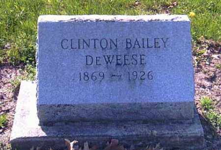 DEWEESE, CLINTON BAILEY - Shelby County, Ohio | CLINTON BAILEY DEWEESE - Ohio Gravestone Photos