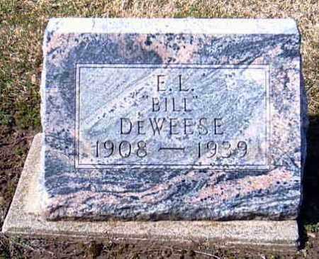 """DEWEESE, E. L. """"BILL"""" - Shelby County, Ohio   E. L. """"BILL"""" DEWEESE - Ohio Gravestone Photos"""