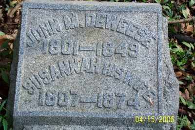 DEWEESE, JOHN M. - Shelby County, Ohio | JOHN M. DEWEESE - Ohio Gravestone Photos