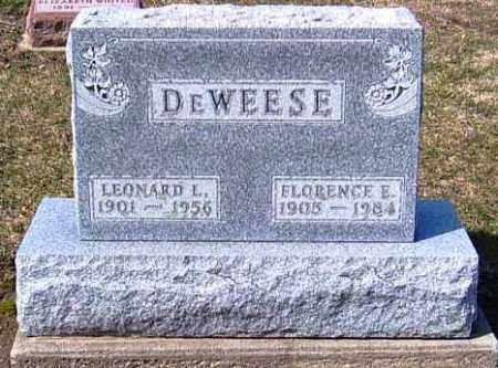 DEWEESE, LEONARD L. - Shelby County, Ohio | LEONARD L. DEWEESE - Ohio Gravestone Photos