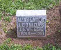 DEWEESE, MARY E. - Shelby County, Ohio | MARY E. DEWEESE - Ohio Gravestone Photos