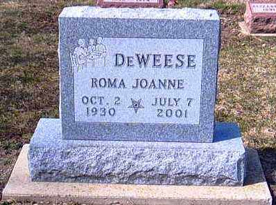 DEWEESE, ROMA - Shelby County, Ohio | ROMA DEWEESE - Ohio Gravestone Photos
