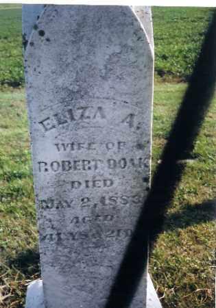 DOAK, ELIZA A - Shelby County, Ohio | ELIZA A DOAK - Ohio Gravestone Photos