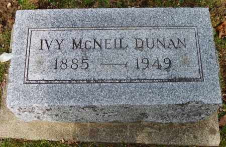 DUNAN, IVY - Shelby County, Ohio | IVY DUNAN - Ohio Gravestone Photos