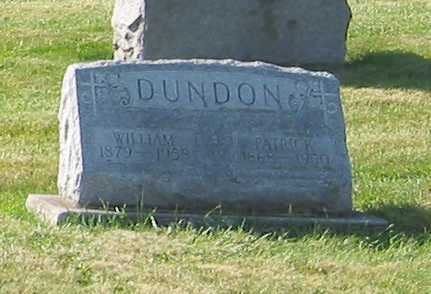 DUNDON, WILLIAM - Shelby County, Ohio | WILLIAM DUNDON - Ohio Gravestone Photos