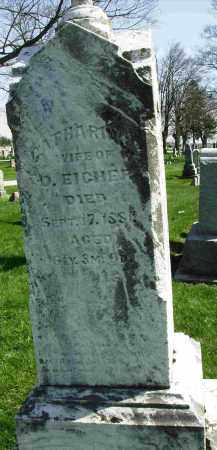 COOK EICHER, CATHARINE - Shelby County, Ohio | CATHARINE COOK EICHER - Ohio Gravestone Photos