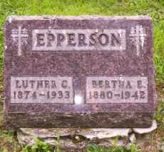 EPPERSON, LUTHER G. - Shelby County, Ohio | LUTHER G. EPPERSON - Ohio Gravestone Photos