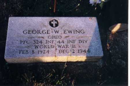 EWING, GEORGE W - Shelby County, Ohio | GEORGE W EWING - Ohio Gravestone Photos