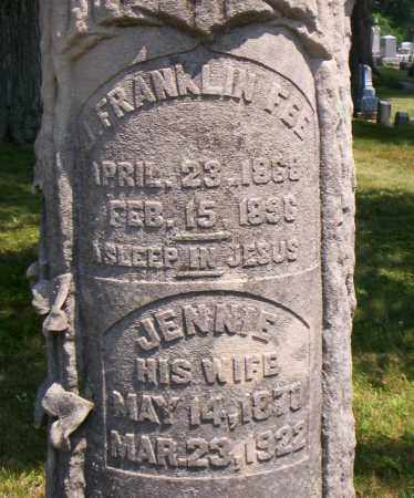 FEE, JENNIE - Shelby County, Ohio | JENNIE FEE - Ohio Gravestone Photos