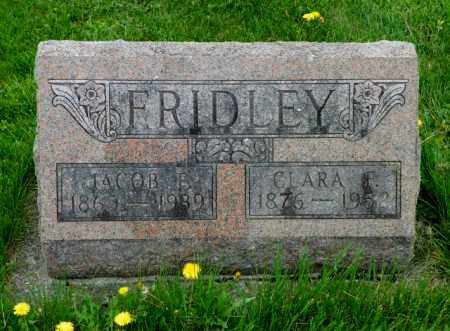 FRIDLEY, CLARA F. - Shelby County, Ohio | CLARA F. FRIDLEY - Ohio Gravestone Photos
