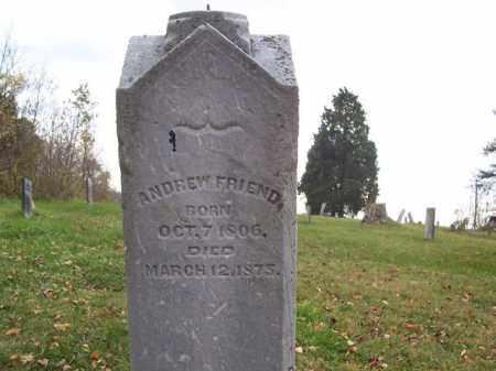 FRIEND, ANDREW - Shelby County, Ohio | ANDREW FRIEND - Ohio Gravestone Photos