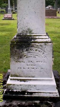 FRY, J.C. - Shelby County, Ohio   J.C. FRY - Ohio Gravestone Photos