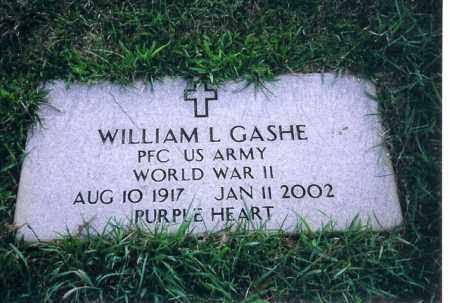 GASHE, WILLIAM L. - Shelby County, Ohio | WILLIAM L. GASHE - Ohio Gravestone Photos