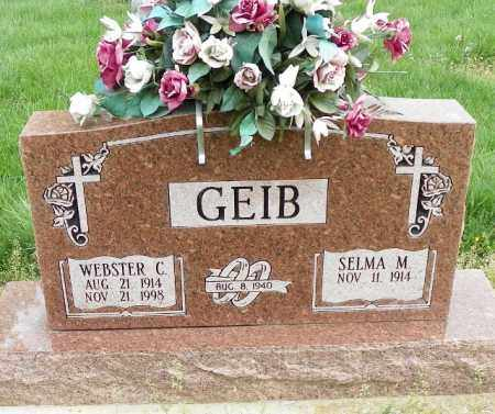 GEIB, WEBSTER C. - Shelby County, Ohio | WEBSTER C. GEIB - Ohio Gravestone Photos