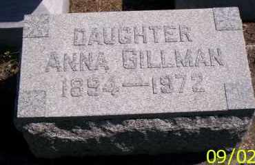 GILLMAN, ANNA - Shelby County, Ohio | ANNA GILLMAN - Ohio Gravestone Photos