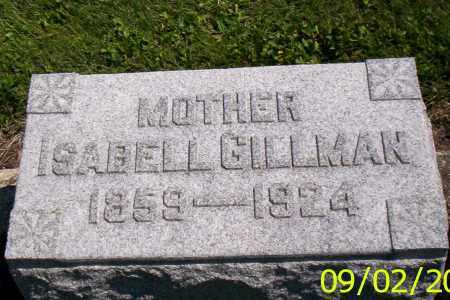 GILLMAN, ISABELL - Shelby County, Ohio | ISABELL GILLMAN - Ohio Gravestone Photos