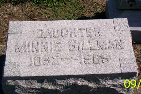 GILLMAN, MINNIE - Shelby County, Ohio | MINNIE GILLMAN - Ohio Gravestone Photos