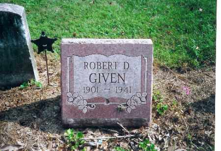 GIVEN, ROBERT D - Shelby County, Ohio | ROBERT D GIVEN - Ohio Gravestone Photos
