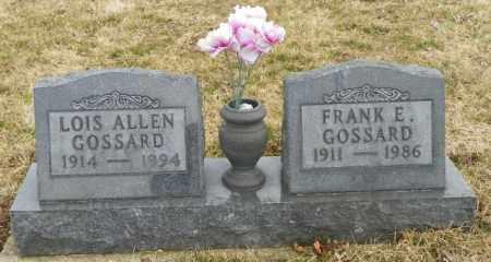 GOSSARD, FRANK E. - Shelby County, Ohio | FRANK E. GOSSARD - Ohio Gravestone Photos