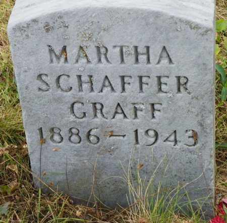 SCHAFFER GRAFF, MARTHA - Shelby County, Ohio | MARTHA SCHAFFER GRAFF - Ohio Gravestone Photos