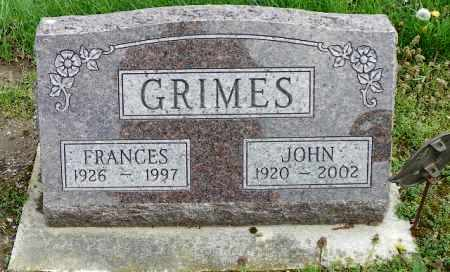 GRIMES, FRANCES - Shelby County, Ohio | FRANCES GRIMES - Ohio Gravestone Photos