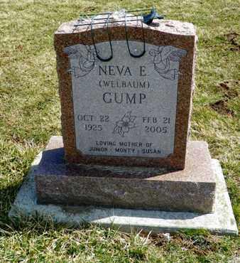 WELBAUM GUMP, NEVA E. - Shelby County, Ohio | NEVA E. WELBAUM GUMP - Ohio Gravestone Photos